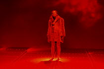 final scene: Kathleen Broderick (Brunnhilde) in THE VALKYRIE by Wagner at English National Opera (ENO), London Coliseum 08/05/2004 conductor: Paul Daniel design: Richard Hudson lighting: Mark Hend...