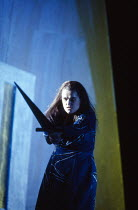 Ulla Gustafsson (Sieglinde) with Nothung in DIE WALKURE by Wagner at The Royal Opera, Covent Garden, London WC2 14/10/1994  conductor: Bernard Haitink design: Nigel Lowery lighting: Pat Collins mo...