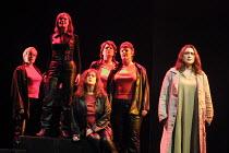 l-r: Valerie Reid (Grimwerde), Kathleen Broderick (Brunnhilde), Julia Melinek (Gerhilde), Renata Skarelyte (Waltraute), Zena Bradley (Schwertleite), Orla Boylan (Sieglinde) in a staged concert perform...