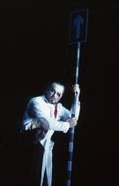 l-r: Robert Tear (Loge), John Tomlinson (Wotan) in DAS RHEINGOLD by Wagner at the The Royal Opera, Covent Garden, London WC2 13/10/1994  conductor: Bernard Haitink design: Nigel Lowery lighting: P...