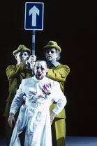 l-r: Gwynne Howell (Fasolt), John Tomlinson (Wotan), Carsten Stabell (Fafner) in DAS RHEINGOLD by Wagner at the The Royal Opera, Covent Garden, London WC2 13/10/1994  conductor: Bernard Haitink de...