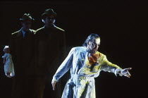 l-r: Gwynne Howell (Fasolt), Carsten Stabell (Fafner), John Tomlinson (Wotan) in DAS RHEINGOLD by Wagner at the The Royal Opera, Covent Garden, London WC2 13/10/1994  conductor: Bernard Haitink de...
