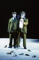 l-r: Gwynne Howell (Fasolt), Rita Cullis (Freia), Carsten Stabell (Fafner) in DAS RHEINGOLD by Wagner at the The Royal Opera, Covent Garden, London WC2 13/10/1994  conductor: Bernard Haitink desig...
