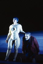 Leah-Marian Jones (Flosshilde), Ekkehard Wlaschiha (Alberich) in DAS RHEINGOLD by Wagner at the The Royal Opera, Covent Garden, London WC2 13/10/1994  conductor: Bernard Haitink design: Nigel Lowe...