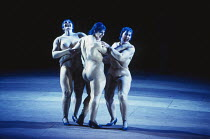 the Rhinemaidens - l-r: Leah-Marian Jones (Flosshilde), Gillian Webster (Wellgunde), Judith Howarth (Woglinde) in DAS RHEINGOLD by Wagner at the The Royal Opera, Covent Garden, London WC2 13/10/1994 &...