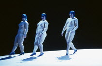 the Rhinemaidens - l-r: Gillian Webster (Wellgunde), Judith Howarth (Woglinde), Leah-Marian Jones (Flosshilde) in DAS RHEINGOLD by Wagner at the The Royal Opera, Covent Garden, London WC2 13/10/1994 &...