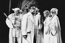 l-r: Donald Maxwell (Donner), James Morris (Wotan), Kim Begley (Froh), Deborah Riedel (Freia), Helga Dernesch (Fricka) in DAS RHEINGOLD by Wagner at the The Royal Opera, Covent Garden, London WC2 16/0...