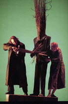 Paul Elming (Siegmund - extracting Nothung from the ash tree), Ulla Gustafsson (Sieglinde) in DIE WALKURE by Wagner at the The Royal Opera, Covent Garden, London WC2 30/09/1996  conductor: Bernard...