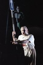 John Tomlinson (Wotan) in DIE WALKURE by Wagner at the The Royal Opera, Covent Garden, London WC2 30/09/1996  conductor: Bernard Haitink design: Nigel Lowery lighting: Pat Collins director: Richar...