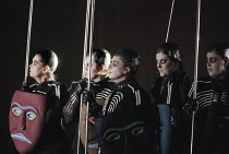 Valkyrie in DIE WALKURE by Wagner at the The Royal Opera, Covent Garden, London WC2 30/09/1996  conductor: Bernard Haitink design: Nigel Lowery lighting: Pat Collins director: Richard Jones