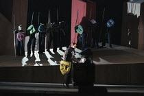 Deborah Polaski (Brunnhilde) with Valkyries in DIE WALKURE by Wagner at the The Royal Opera, Covent Garden, London WC2 30/09/1996  conductor: Bernard Haitink design: Nigel Lowery lighting: Pat Col...