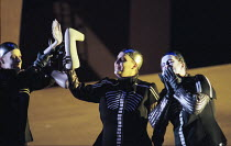 Valkyrie prepare to boil human limbs in DIE WALKURE by Wagner at the The Royal Opera, Covent Garden, London WC2 30/09/1996  conductor: Bernard Haitink design: Nigel Lowery lighting: Pat Collins di...