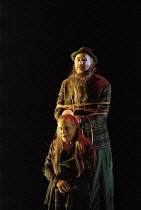 Graham Clark (Mime - front), John Tomlinson (The Wotan / Wanderer) in SIEGFRIED by Wagner at the The Royal Opera, Covent Garden, London WC2 27/03/1995 conductor: Bernard Haitink design: Nigel Lowe...