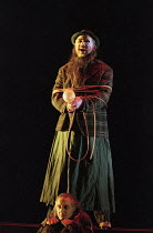 Graham Clark (Mime - front), John Tomlinson (The Wanderer) in SIEGFRIED by Wagner at the The Royal Opera, Covent Garden, London WC2 27/03/1995 conductor: Bernard Haitink design: Nigel Lowery light...