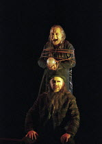 John Tomlinson (Wotan / The Wanderer - front), Graham Clark (Mime) in SIEGFRIED by Wagner at the The Royal Opera, Covent Garden, London WC2 27/03/1995 conductor: Bernard Haitink design: Nigel Lowe...