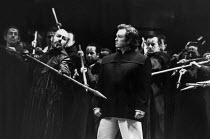 l-r: John Tomlinson (Hagen), Rene Kollo (Siegfried) in GOTTERDAMMERUNG by Wagner at the The Royal Opera, Covent Garden, London WC2 04/02/1991 conductor: Bernard Haitink design: Peter Sykora lighting:...