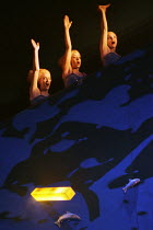 the Rhinemaidens in DAS RHEINGOLD by Wagner at the Theatre Royal, Glasgow 27/01/1989 a Scottish Opera production conductor: John Mauceri design: Nigel Lowery lighting: David Lovett & Nigel Lowery move...