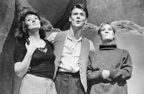 l-r: Rachel Bell, Martin Troakes, Catrin Menna in UNDER MILK WOOD by Dylan Thomas at the Greenwich Theatre, London SE10 20/10/1986 design: Belinda Ackerman lighting: John A Williams director: Anthony...