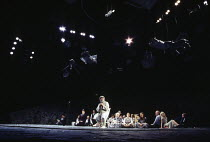Anthony O'Donnell (Captain Cat) and members of the company in UNDER MILK WOOD by Dylan Thomas at the Olivier Theatre, National Theatre (NT), London SE1 13/04/1995 music: Dominic Muldowney design: Will...