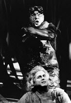Ragnar Ulfung (Mime - top), Jean Cox (Siegfried) in SIEGFRIED by Wagner at the The Royal Opera, Covent Garden, London WC2 29/09/1976 conductor: Colin Davis set design: Josef Svoboda costumes: Ingrid R...