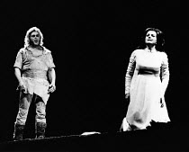 Jean Cox (Siegfried), Berit Lindholm (Brunnhilde) in SIEGFRIED by Wagner at the The Royal Opera, Covent Garden, London WC2 29/09/1976 conductor: Colin Davis set design: Josef Svoboda costumes: Ingrid...
