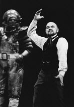 l-r: Robert Lloyd (Fasolt), Robert Tear (Loge) in DAS RHEINGOLD by Wagner at the The Royal Opera, Covent Garden, London WC2 11/09/1980 conductor: Colin Davis set design: Josef Svoboda costumes: Ingri...