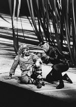 l-r: Alberto Remedios (Siegfried), John Dobson (Mime) in SIEGFRIED by Wagner at the The Royal Opera, Covent Garden, London WC2 19/09/1980 conductor: Colin Davis set design: Josef Svoboda costumes: Ing...