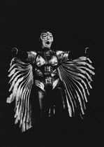 Gwyneth Jones (Brunnhilde) in DIE WALKURE by Wagner at the The Royal Opera, Covent Garden, London WC2 12/09/1978 conductor: Colin Davis set design: Josef Svoboda costumes: Ingrid Rosell lighting: Will...