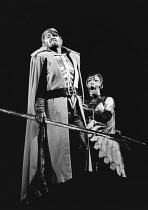 Donald McIntyre (Wotan), Gwyneth Jones (Brunnhilde) in DIE WALKURE by Wagner at the The Royal Opera, Covent Garden, London WC2 12/09/1978 conductor: Colin Davis set design: Josef Svoboda costumes: Ing...