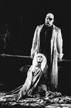 James Morris (The Wanderer), Birgitta Svenden (Erda) in SIEGFRIED by Wagner at the The Royal Opera, Covent Garden, London WC2 04/10/1990 conductor: Bernard Haitink design: Peter Sykora lighting: John...