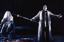 Birgitta Svenden (Erda), James Morris (The Wanderer) in SIEGFRIED by Wagner at the The Royal Opera, Covent Garden, London WC2 04/10/1990 conductor: Bernard Haitink design: Peter Sykora lighting: John...