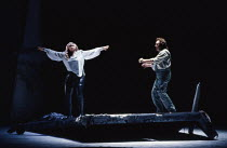 Gwyneth Jones (Brunnhilde), Rene Kollo (Siegfried) in SIEGFRIED by Wagner at the The Royal Opera, Covent Garden, London WC2 04/10/1990 conductor: Bernard Haitink design: Peter Sykora lighting: John B...