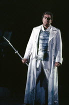 James Morris (Wotan) in DIE WALKURE by Wagner at the The Royal Opera, Covent Garden, London WC2 27/09/1989 conductor: Bernard Haitink design: Peter Sykora lighting: John B Read director: Gotz Friedric...