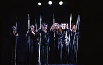 the Valkyrie in DIE WALKURE by Wagner at the The Royal Opera, Covent Garden, London WC2 27/09/1989 conductor: Bernard Haitink design: Peter Sykora lighting: John B Read director: Gotz Friedrich