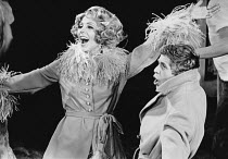 Marian Montgomery (Reno Sweeney), James Kenney (Billy Crocker) in ANYTHING GOES at the Saville Theatre, London WC2 18/11/1969 music & lyrics: Cole Porter book: Howard Lindsay & Russell Crouse set desi...