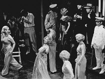 front centre: Marian Montgomery (Reno Sweeney) in ANYTHING GOES at the Saville Theatre, London WC2 18/11/1969 music & lyrics: Cole Porter book: Howard Lindsay & Russell Crouse set design: John Stoddar...