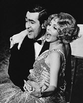 Michael Malnick (Sir Evelyn Oakleigh), Marian Montgomery (Reno Sweeney) in ANYTHING GOES at the Saville Theatre, London WC2 18/11/1969 music & lyrics: Cole Porter book: Howard Lindsay & Russell Crouse...