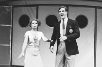 Elaine Paige (Reno Sweeney), Howard McGillin (Billy Crocker) in ANYTHING GOES at the Prince Edward Theatre, London W1 04/07/1989 a Lincoln Center Production music & lyrics: Cole Porter original book:...