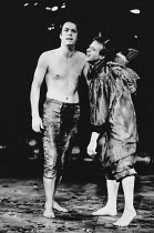 Roger Allam (Oberon), David Whitaker (Puck) in A MIDSUMMER NIGHT'S DREAM by Shakespeare in the Royal Shakespeare Company (RSC) NatWest 1983/84 Tour  set design: Bob Crowley costumes: Priscilla Truett...