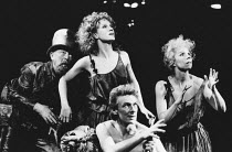 l-r: Donald McKillop (Mustardseed), Penny Downie (Titania, Queen of the Fairies), Cliff Burnett (Cobweb), Susan Jane Tanner (Peaseblossom) in A MIDSUMMER NIGHT'S DREAM by Shakespeare in the Royal Shak...