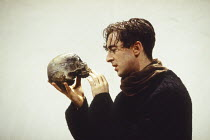 Alan Cumming (Hamlet) in HAMLET by Shakespeare at the Donmar Warehouse, London WC2 11/11/1993 an English Touring Theatre production design: Bunny Christie lighting: Ben Ormerod director: Stephen Unwin