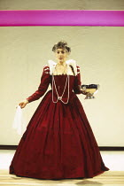 Eleanor Bron (Gertrude) in HAMLET by Shakespeare at the Donmar Warehouse, London WC2 11/11/1993 an English Touring Theatre production design: Bunny Christie lighting: Ben Ormerod director: Stephen Unw...