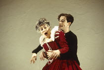 Eleanor Bron (Gertrude), Alan Cumming (Hamlet) in HAMLET by Shakespeare at the Donmar Warehouse, London WC2 11/11/1993 an English Touring Theatre production design: Bunny Christie lighting: Ben Ormero...