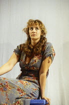 Janet McTeer (Beatrice) in MUCH ADO ABOUT NOTHING by Shakespeare at the Queen's Theatre, London W1 06/07/1993 design: Neil Warmington lighting: Rick Fisher director: Matthew Warchus