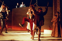 the ball scene: Keith Dunphy (Tybalt) in ROMEO AND JULIET by Shakespeare at the Royal Shakespeare Company (RSC), Royal Shakespeare Theatre, Stratford-upon-Avon 05/07/2000 music: Stephen Warbeck design...
