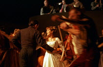 the ball scene: Alexandra Gilbreath (Juliet) in ROMEO AND JULIET by Shakespeare at the Royal Shakespeare Company (RSC), Royal Shakespeare Theatre, Stratford-upon-Avon 05/07/2000 music: Stephen Warbeck...