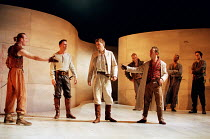 front, l-r: Keith Dunphy (Tybalt), Anthony Howell (Benvolio), David Tennant (Romeo), Adrian Schiller (Mercutio) in ROMEO AND JULIET by Shakespeare at the Royal Shakespeare Company (RSC), Royal Shakesp...
