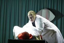 John Graham-Hall (Doctor) in THE HANDMAID'S TALE at English National Opera (ENO), London Coliseum, London WC2 03/04/2003 music: Poul Ruders libretto: Paul Bentley after the novel by Margaret Atwood co...