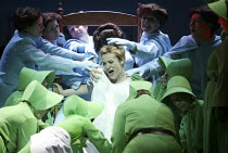giving birth - Mary Nelson (Janine / Ofwarren) in THE HANDMAID'S TALE at English National Opera (ENO), London Coliseum, London WC2 03/04/2003 music: Poul Ruders libretto: Paul Bentley after the novel...