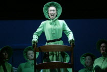 Helen Field (Aunt Lydia) in THE HANDMAID'S TALE at English National Opera (ENO), London Coliseum, London WC2  03/04/2003  music: Poul Ruders  libretto: Paul Bentley after the novel by Margaret Atwood...